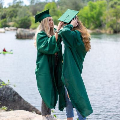 college graduation students